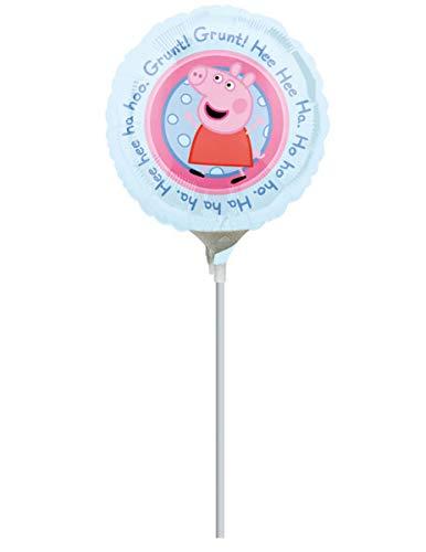 COOLMP – Lote de 6 Globos de Aluminio Peppa Pig 23 cm – Talla única – Decoración y Accesorios de Fiesta, animación, cumpleaños, Boda, Evento, Juguete, Globo