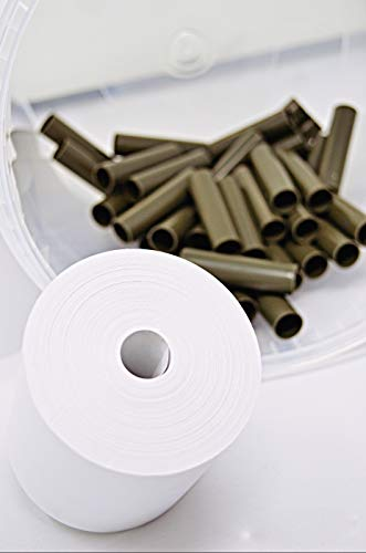 coreless - 45 Thermorollen 80mm x 80mm x 12mm ohne Plastikkern - Rolle aus Thermopapier