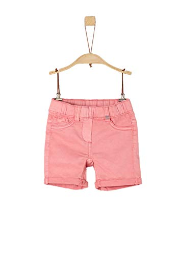 s.Oliver s.Oliver Mädchen 53.903.74.5864 Shorts, Rosa (Coral Red 4281), (Herstellergröße: 92/REG)