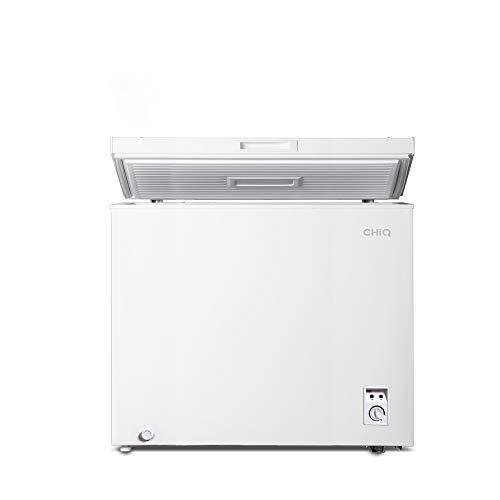 CHiQ FCF142D Gefrierschrank 142 L | Gefriertruhe mit statischem Kühlungsystem | Tiefkühlschrank | 82,5 x 76 x 56 cm (HxBxT) | F Energieverbrauch 226 kWh/Jahr | Tiefkühler | 41db | 12 Jahre Garantie