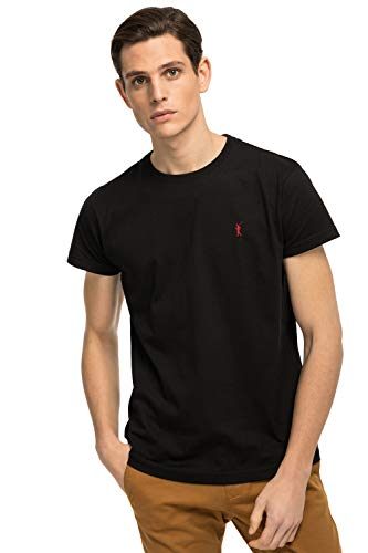 Camiseta Negra de Manga Corta para Hombre
