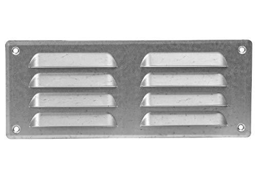 260x105mm Verzinkt Lüftungsgitter Abschlussgitter mit Insektenschutz Abluft Zuluft Metall Gitter