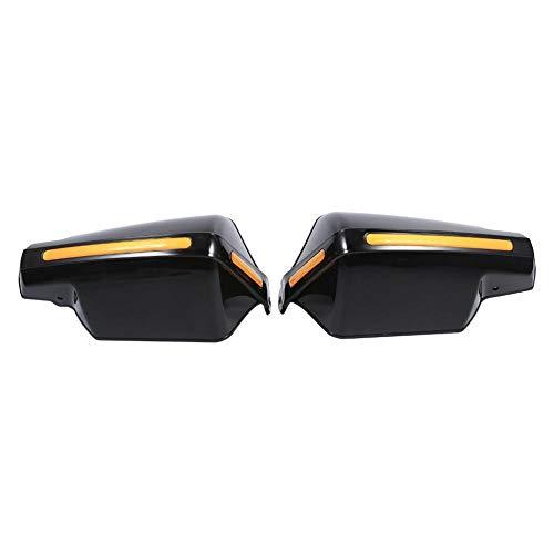 Keenso 1Paar Motorrad Handschutz 7/8 zoll Lenker Handschutz Griffschutz Windschutz Schutz Guard Windschutzscheibe Deflektoren(Schwarz)