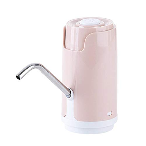SCDSRQ Bomba de Agua automático for USB Botella Botella de Carga Doble Motor eléctrico Bomba de Agua Potable la Mano del dispensador de la Bomba de Agua embotellada (Color : Pink)