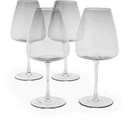 VonShef Set mit 4 Getönten Weingläsern - Weinglas-Set - Weiß- und Rotweinglas-Set