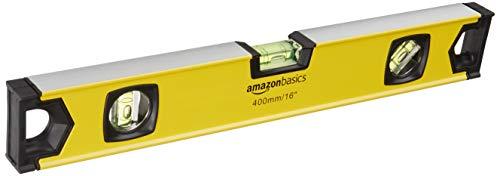 AmazonBasics - Nivel de burbuja magnético de aleación de aluminio de 40,6 cm