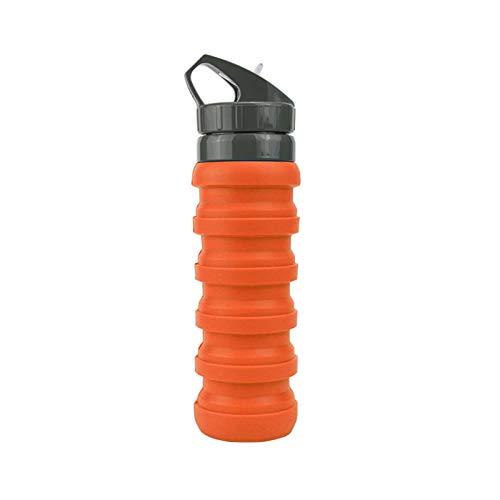 Silicone Pliable Tasse Voyage Portable Bouteille D'eau Multifonctionnel Télescopique Tasse De Sport De Plein Air