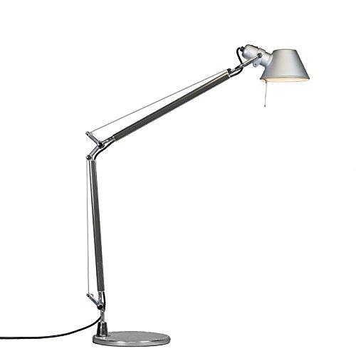 Artemide Design/Modern Artemide Tolomeo Tavolo Aluminium/Innenbeleuchtung/Wohnzimmerlampe/Schlafzimmer/Nachttischleuchte Rund LED geeignet E27 Max. 1 x 77 Watt