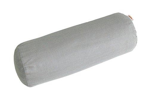 beties Farbenspiel Nackenrollen Bezug ca. 15x40 cm Baumwoll-Serie in Uni (Platin)