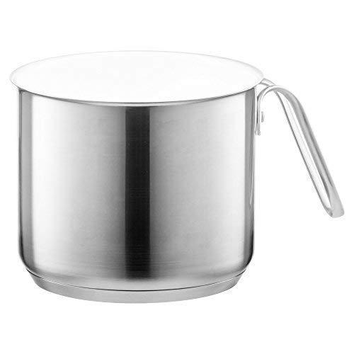 Style'n Cook Milchtopf Keramik, Edelstahl/weiss, 14 cm