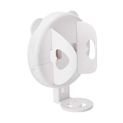 CVBN Soporte para Cepillo de Dientes eléctrico Soporte Creativo Soporte para Cepillo de Dientes montado en la Pared, Blanco