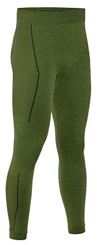 Freenord MERINOTECH Active De Laine Mérinos Thermoactifs Fonctionnel sous-Vêtements Pantalon (Kaki, XXL)