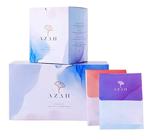 Azah Rash-free Organic Sanitary Pads (With Disposal Bags) - Box of 15: All XL