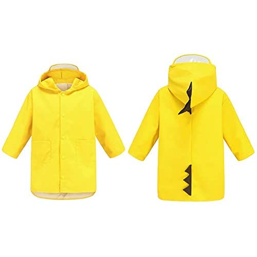 Xrten Kids Raincoat,Dinosaur Raincoat Bambini Impermeabile Pioggia Poncho Cute Unisex
