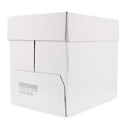 ohmtronixx Druckerpapier Kopierpapier DIN A4, 80g Papier holzfrei weiß, 1 Karton mit 5 Packungen, 500 Blatt pro Packung