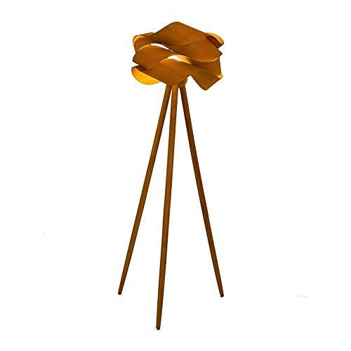 GWXSST Dormitorio Estudio Creativo Arte Simple del Estilo Chino del trípode de Madera Lámpara de pie Lámpara de pie de Chapa de Madera Creativo