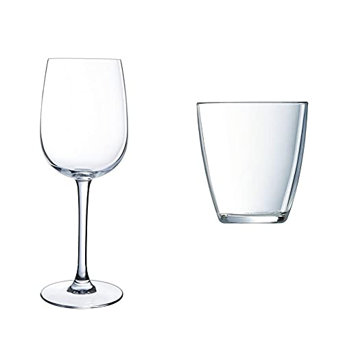 Luminarc 36 Cl C6 Copas Versailles, Vidrio sodo + Vasos, Set de 6, 6