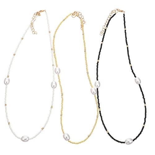 Holibanna Collar de Estilo Bohemio para Mujer Collares Bohemios Collares de Cuentas de Cristal Gargantilla Joyería para Mujeres Y Niñas Colorido