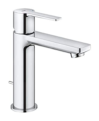 Grohe 2379400A Lineare S-Size Bathtub Faucet with Fixed Spout, StarLight Chrome