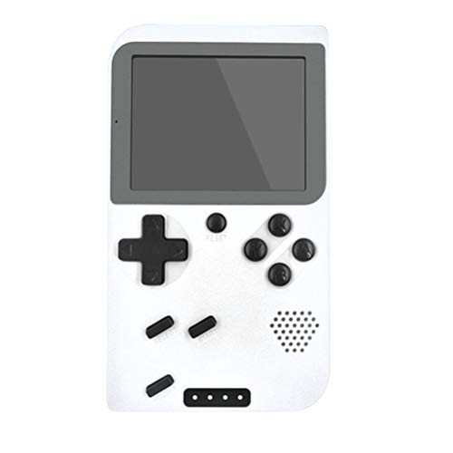 H/L Retro Doubles Handspel-console, draagbare mini-pocket-gameboy met 5000 mAh powerbank en zaklampfunctie en ingebouwde 400 klassieke FC-games