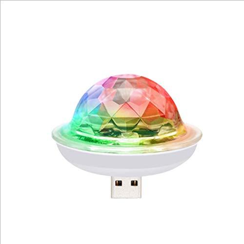 Achimer Party Ball USB - Mini USB betriebene Discokugel Led Party Lampe, synchron im Takt zur Musik, Mini USB Disco Ball Licht, für Laptop, Fernseher, Lautsprecher, Musikanlage, Soundanlage, Soundbox
