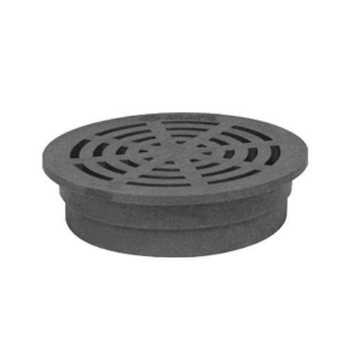 Storm Drain FSD-064-R 6-in. Round Plastic Drain Grate - Black