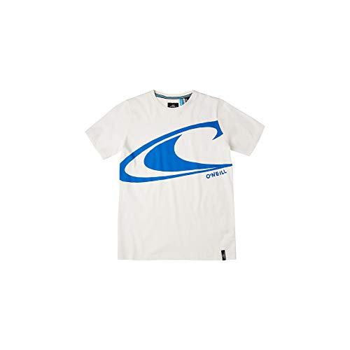 O'Neill Lb Wave SS T-Shirt, Camiseta para Niños, Blanco (1030 Powder White), 140