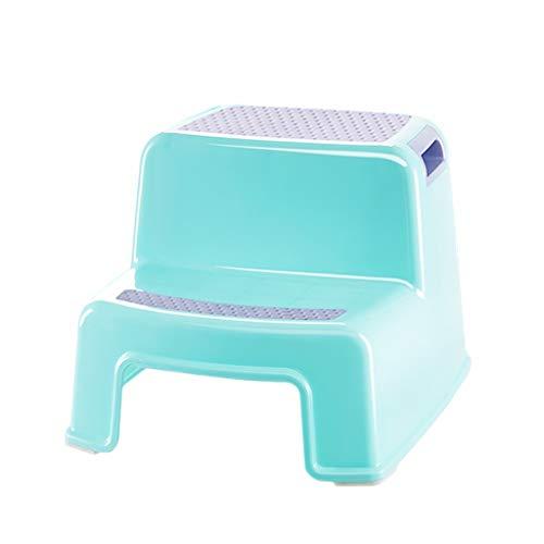 tabouret Escabeau en Plastique Bébé Enfant Laver Main Siège antidérapant Ménage Step Foot Stool ZHAOSHUNLI (Color : Green)