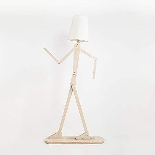 LQBDJPYS La Gente staande lamp van massief hout verstelbaar lichaamshouding mode eenvoudige creatieve persoonlijkheid moderne verticale staande lamp uplighter decoratielicht (kleur: D)