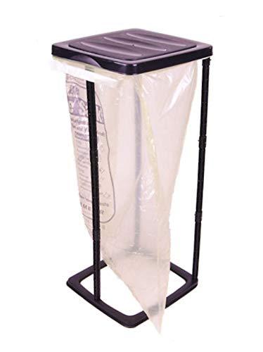 Spetebo Supporto per sacchi della spazzatura, nero, 60 litri, ideale per sacchi gialli, per sacchi della spazzatura
