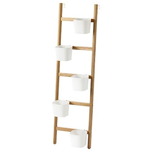 IKEA Satsumas–Soporte de Plantas con 5tarros de plantas Bamboo/blanco
