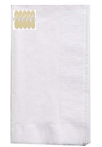 2 Ply White Dinner Napkins - Pack of 150ct