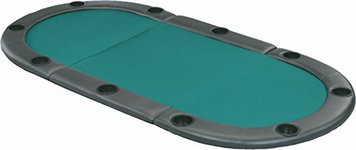 Fat Cat Tri-Fold Poker Game Table Top with Cushioned Rail