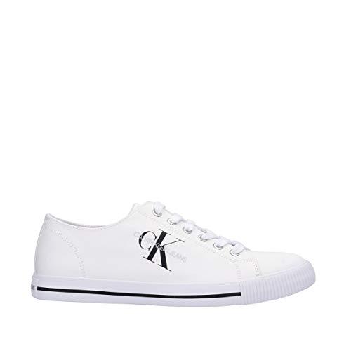 Calvin Klein Herren-Schuhe Art B4S0670 Navy Farbe Foto Größe wählbar, Weiß - Bianco - Größe: 44 EU