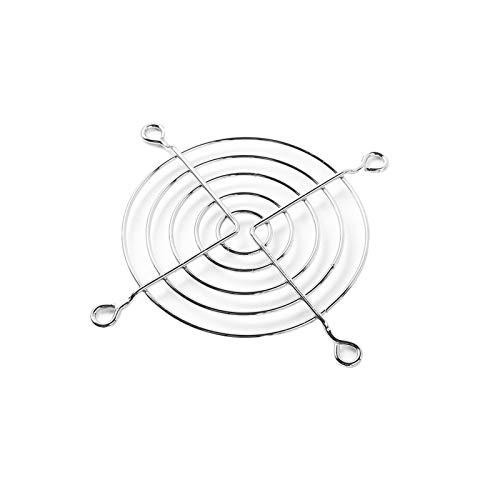 JINchao-rejilla ventilación, 5pcs tono de plata Protector de dedos de alambre de metal de enfriamiento del ventilador Grill, cubierta protectora del protector de la PC Ventilador ventilador de la CPU