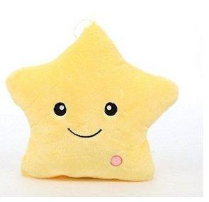 Muñecas decorativo con forma de estrella de almohada cute Glow LED luminoso luz almohada Cusion cojín suave acogedor relajarse regalo