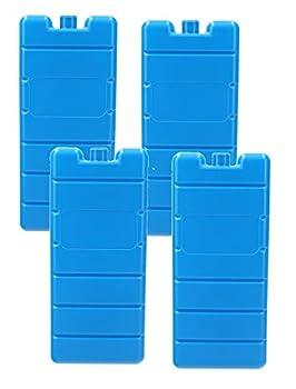 VonBueren Lot de 4 blocs réfrigérants pour sac isotherme | 200 g chacun | 7,5 x 16,5 x 2 cm | également pour glacière