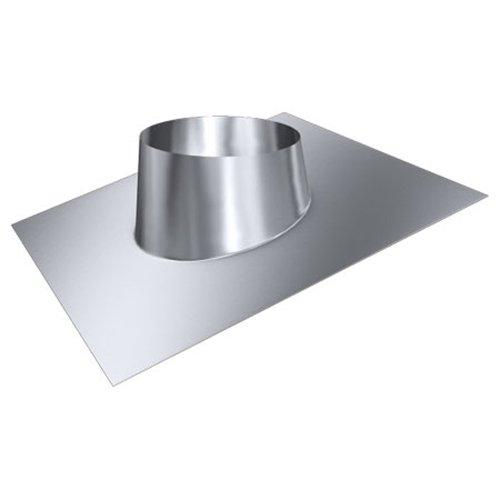 MK sp. Z o.o. Schornstein, Dachdurchführung 5°-20°, Edelstahl, Lochdurchmesser 210 mm (DW 130) Edelstahl glänzend Keine Farbe wählbar