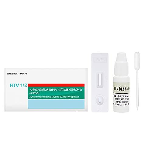 HIV-zelftest, testkit Bloedanalysetestpapier met bloedafnamenaald/buffer/druppelaar/alcohol Wattenschijfje, snel betrouwbaar controleren Nauwkeurig handig