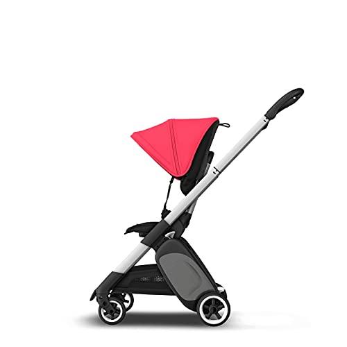 Bugaboo Ant - carrito ligero de viaje con plegado compacto, se convierte en un carrito (Rojo)