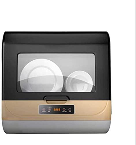 Lavavajillas Compacto Encimera Lavavajillas Doble Secador Inteligente para Apartamentos Oficina y Cocina en el Hogar Panel Táctil de Lujo, Fácil de limpiar TDF
