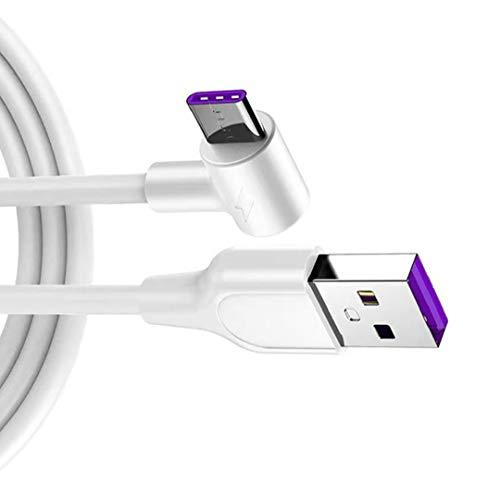 nJiaMe Cable de Datos USB Cable Cargador rápido estupendo del convertidor de Cable para el Cable de Datos USB Tipo C Cable USB USB-CMicro Carga de Alambre 1M Blanca Compatible para el teléfono