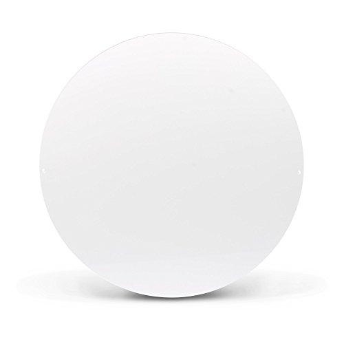 Design Magnettafel von banjado | Pinnwand magnetisch 47cm Ø | Memoboard | Magnetwand weiß aus Metall rund