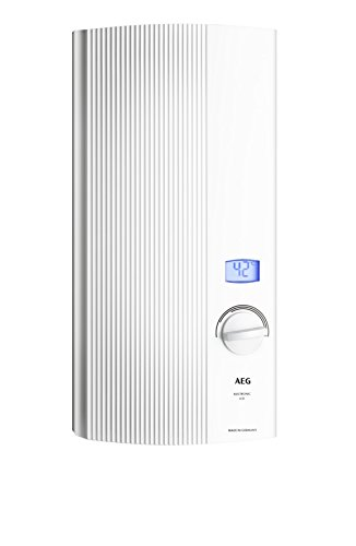 AEG elektronischer Durchlauferhitzer DDLE LCD, umschaltbar 18/21/24 kW, gradgenaue Temperaturwahl, LC-Display, 222394