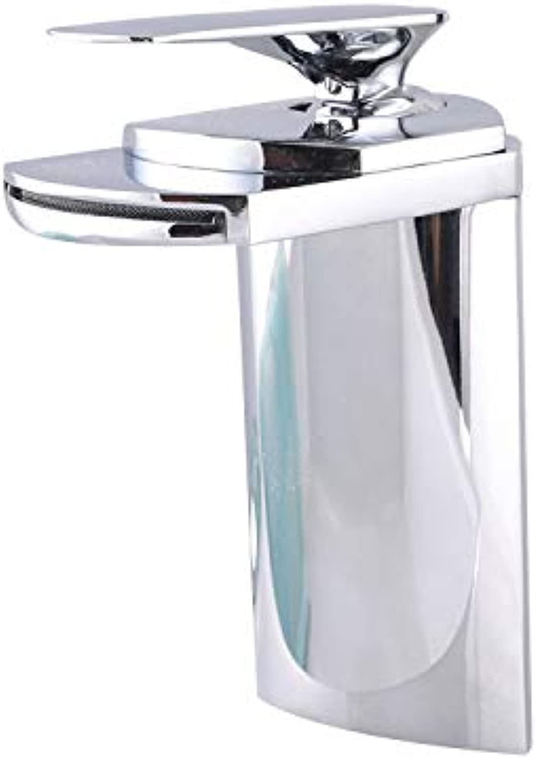 High-end Wide Mouth Waterfall Faucet?Copper Chrome hot and Cold Basin Faucet wash Basin Above Counter Basin Faucet