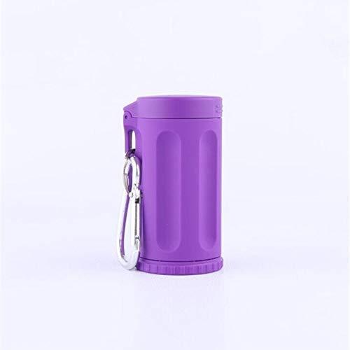 AMITD Durable draagbare mini-zakbeker autoasbak asbak sleutelhanger bonbonkleurige strand asbak Italië outdoor-roken, lila