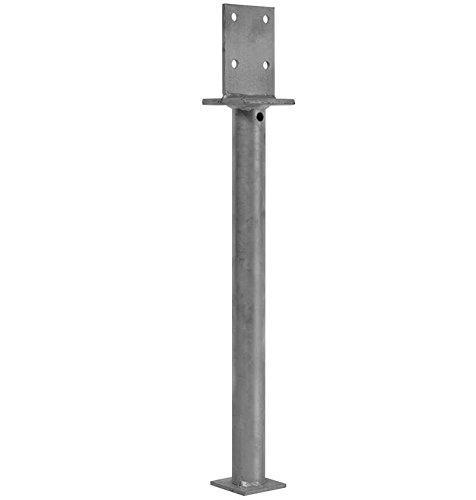 1 Stück profiBAUline Pfostenträger T-Form in Beton mit Rohrdolle Grösse 300 Höhe