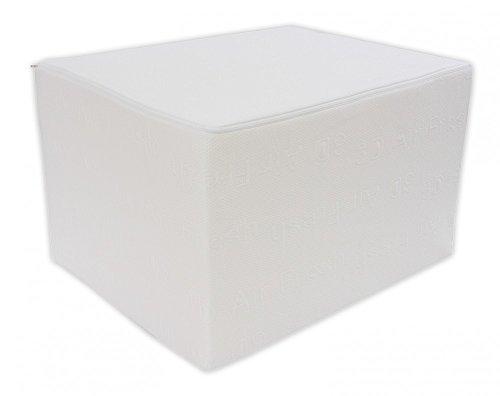 Dibapur Bandscheibenwürfel mit 3D Air Fresh Bezug - Stufenlagerung, Stufenlagerungswürfel, Stufenbett, Reha, Orthopädischer, Positurkissen, Lagerungskissen, Stufenlagerung - 55 cm x 45 cm x 35cm