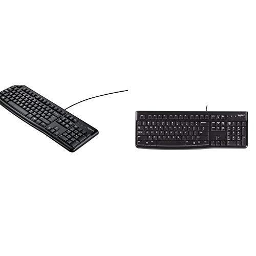 Logitech k120 tastiera cablata business per windows/linux, usb, tasti silenziosi, anti schizzi, barra spaziatrice curva & k120 tastiera cablata business per windows/linux, usb, tasti esilenziosi