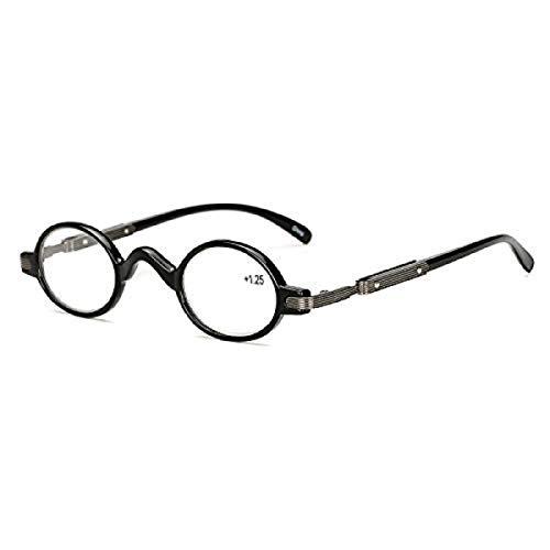 EgBert Hd Anti-Müdigkeit Lesebrille Pc Schwarz Runde Rahmen Harz Linse Presbyopie Brille - 1.5